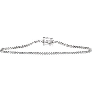 "14K White 7/8 CTW Diamond 7"" Line Bracelet"