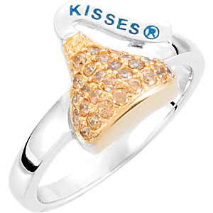Sterling Silver November HERSHEYS KISSES Aubic Zirconia Birthstone Ring