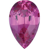 Pear Lab Created Pink Sapphire
