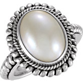Mabé Cultured Pearl Ring