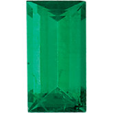 Genuine Emerald - Straight Baguette Faceted -Non-Returnable; AA Quality