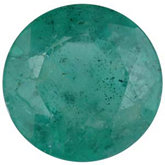 Round Genuine Commercial Emerald