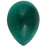 Pear Genuine Cabochon Emerald