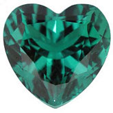 Heart Chatham Created Emerald