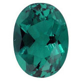 Oval Chatham Created Emerald
