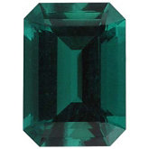 Emerald/Octagon Chatham Created Emerald