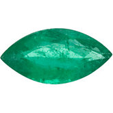 Genuine Emerald - Marquise Faceted; A Quality