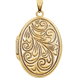 Oval Locket with Design