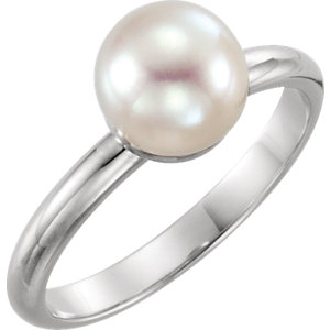 Platinum Ring Mounting<br> for 6mm Pearl