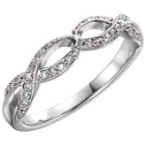 Diamond Infinity-Style Anniversary Band or Mounting