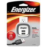 Energizer Dual USB Wall Outlet Charger