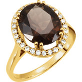 Ring Mounting for Oval Shape Gemstone
