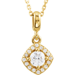 Diamond Halo-Styled Necklace or  Pendant Mounting