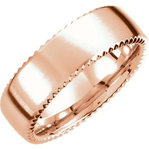 Fancy 7.5mm Carved Band