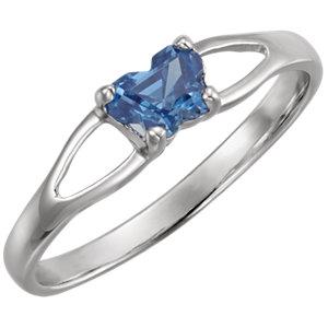Sterling Silver Bfly® September AZ Birthstone Ring