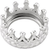 Round Cabochon Crown Design Setting