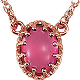 Crown Design Oval Cabochon Chain Center