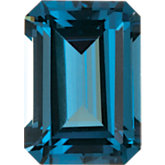 Emerald/Octagon Imitation Blue Zircon