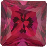 Square SWAROVSKI GEMSTONES™ Genuine Blazing Red Topaz