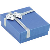 Blue/Silver Pendant or Ring Box Pack of 36