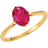 Solitaire Ring Mounting for Oval Gemstone