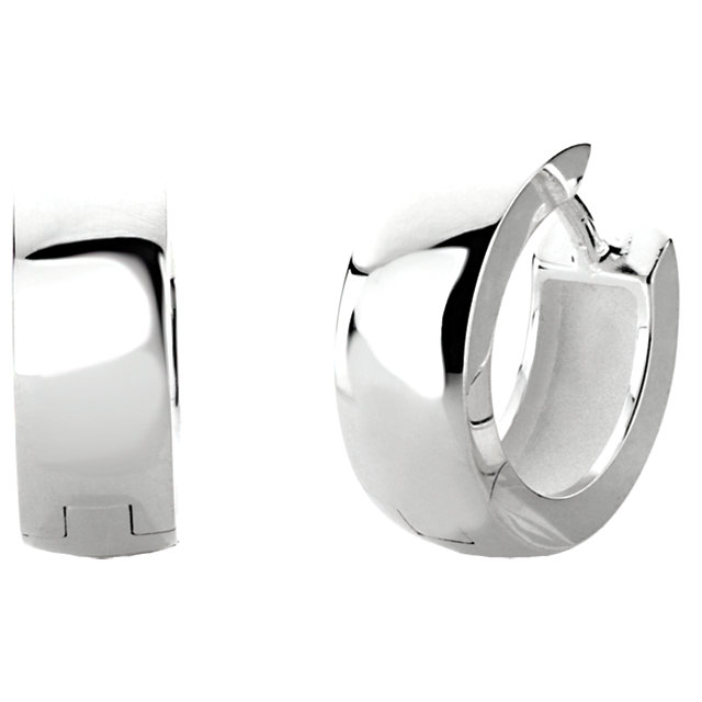 Sterling Silver 14mm Hinged Earring-Each