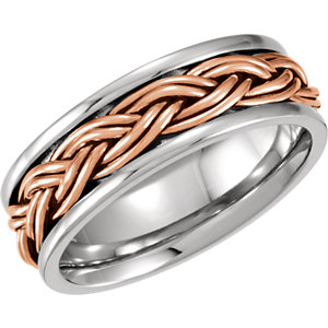 Hand-Woven 8mm Two-Tone Band