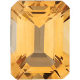 Emerald/Octagon Genuine Citrine