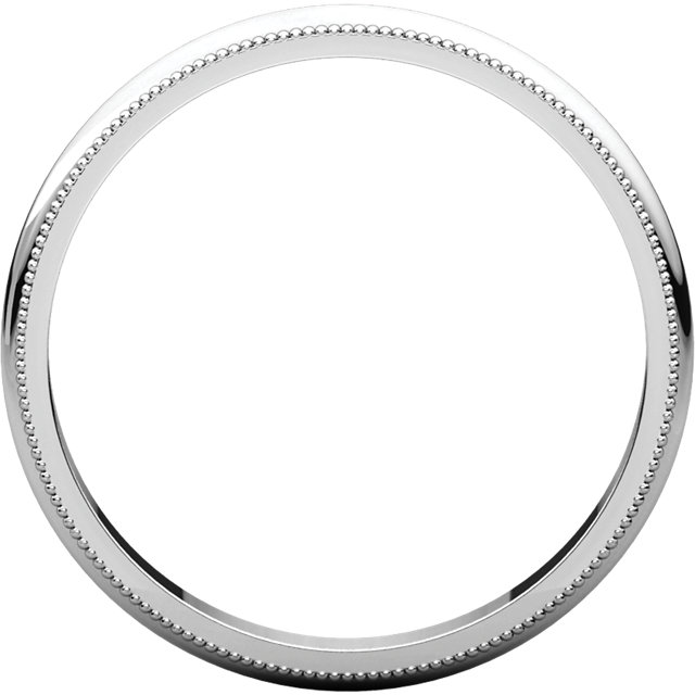 Sterling Silver 2.5mm Milgrain Band