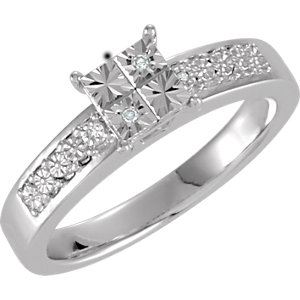 .02 CTW Diamond Illusion Engagement Ring