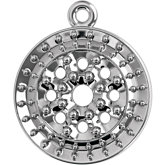 Round Halo-Style Cluster Dangle Mounting