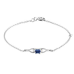 10K White September Birthstone Bracelet
