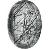 Oval Genuine Tourmalinated Quartz