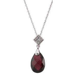 Brazilian Garnet & Diamond Necklace