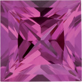 Square Lab Created Pink Sapphire