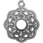 Round Halo-Style Dangle Mounting