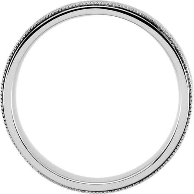 Sterling Silver & 10K White 7mm Precious Bond® Band Size 8