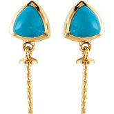Genuine Turquoise Earring for South Sea Cultured Pearls