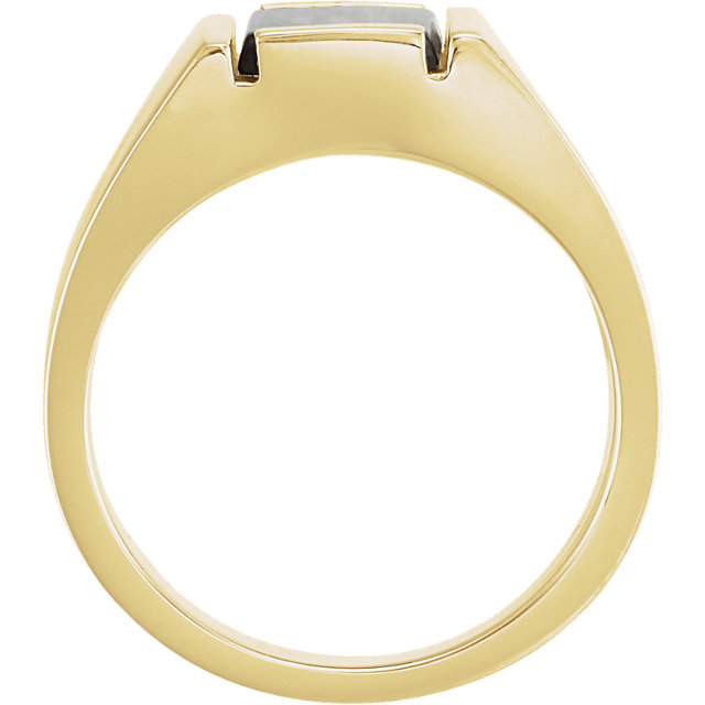 14K Yellow Onyx Men-s Ring