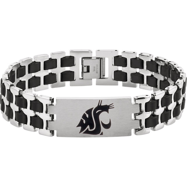 Stainless Steel Washington State Cougars Logo 8.5