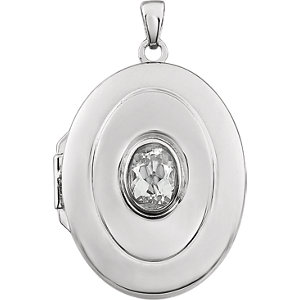 Oval Birthstone Locket