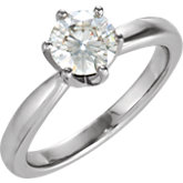 Created Moissanite Solstice Solitaire® Ring