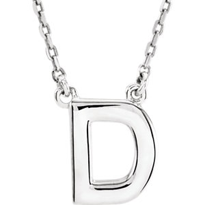 Block Initial Necklace