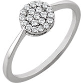 Diamond Round Cluster Ring