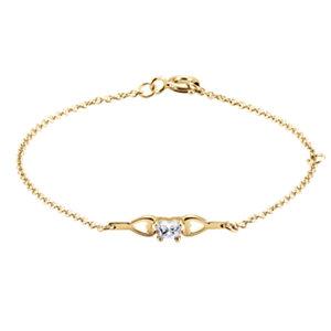 10K Yellow April Birthstone Bracelet