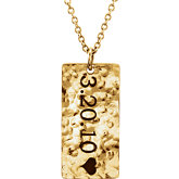 Engravable Rectangle Dangle Pendant