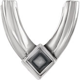 Princess/Square 4-Prong Accented Setting
