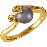 Scroll Design Ring Mounting for Pearl