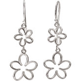 Floral Design Dangle Earrings