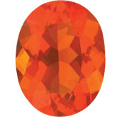 Oval Genuine Mexican Fire Opal